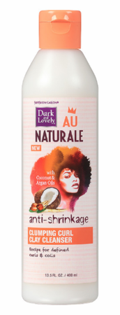 Dark and Lovely Au Naturale Anti Shrinkage Clumping Curl Clay Cleanser 13.5 oz