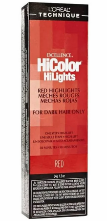 L'Oreal Excellence HiColor Red HiLights Permanent Hair Color Red 1.2 oz