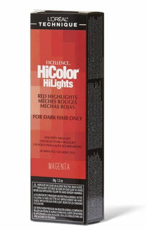 L'Oreal Excellence HiColor Red HiLights Permanent Hair Color Magenta 1.2 oz