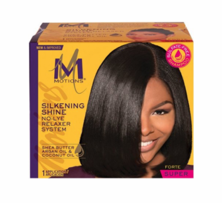 Motions Salon Haircare Relaxer System Silkening Shine Super - Melanin Beauty Suppliers
