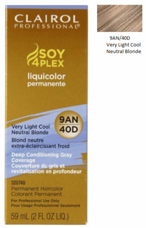 Clairol Professional Soy4Plex Permanent Haircolor Very Light Cool Neutral Blonde - Melanin Beauty Suppliers