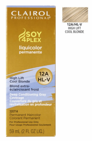 Clairol Professional Soy4Plex Permanent Haircolor High Lift Cool Blonde - Melanin Beauty Suppliers