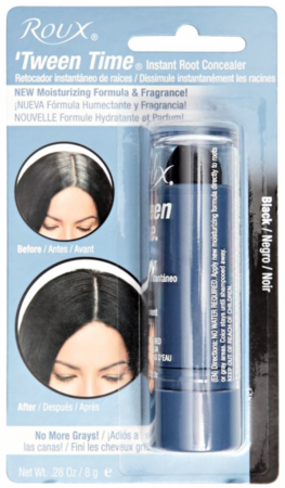 Roux Tween Time Black Temporary Haircolor Touch Up Color Stick .33 oz