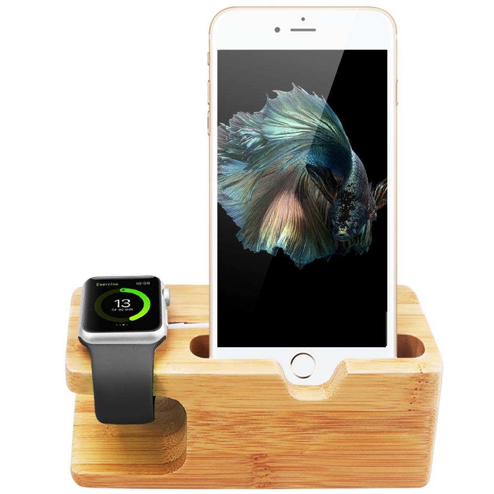 Bamboo Charging Stand Station