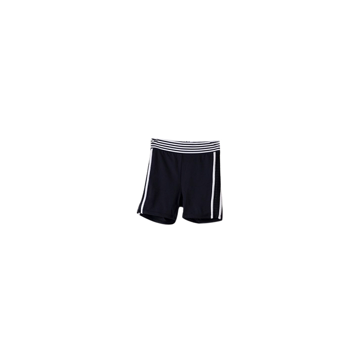 Jasmine Alexa black and white monochrome bike shorts with panel detail