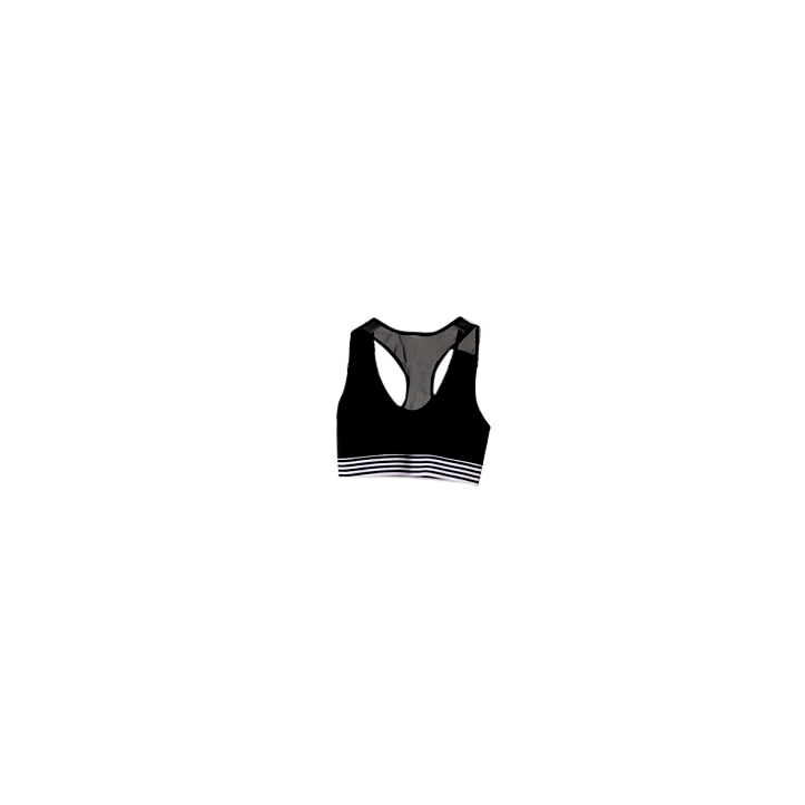 Jasmine Alexa mesh back crop top monochrome activewear