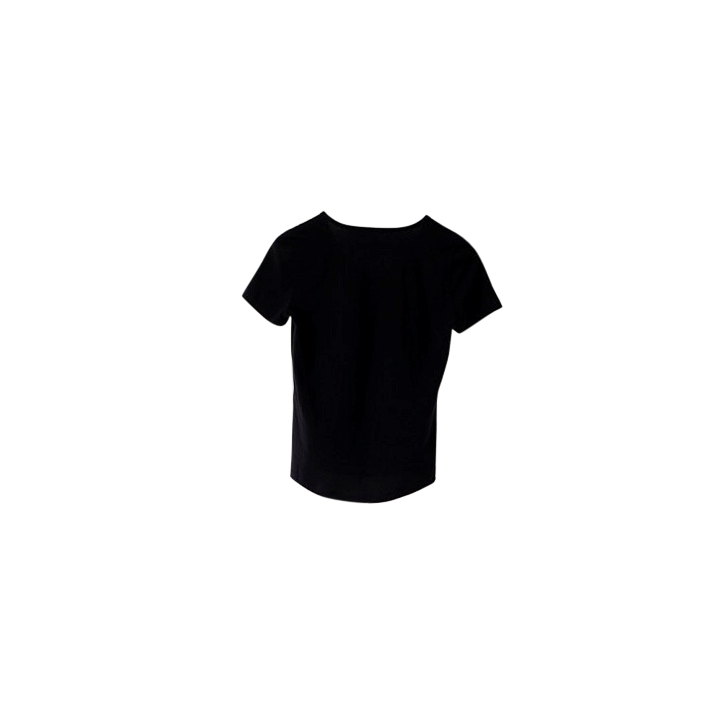 Made-to-order Black v-neck cotton tshirt ethical clothing australia accredited manufacturer