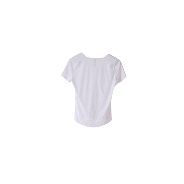 Made-to-order White v-neck cotton tshirt ethical clothing australia accredited manufacturer