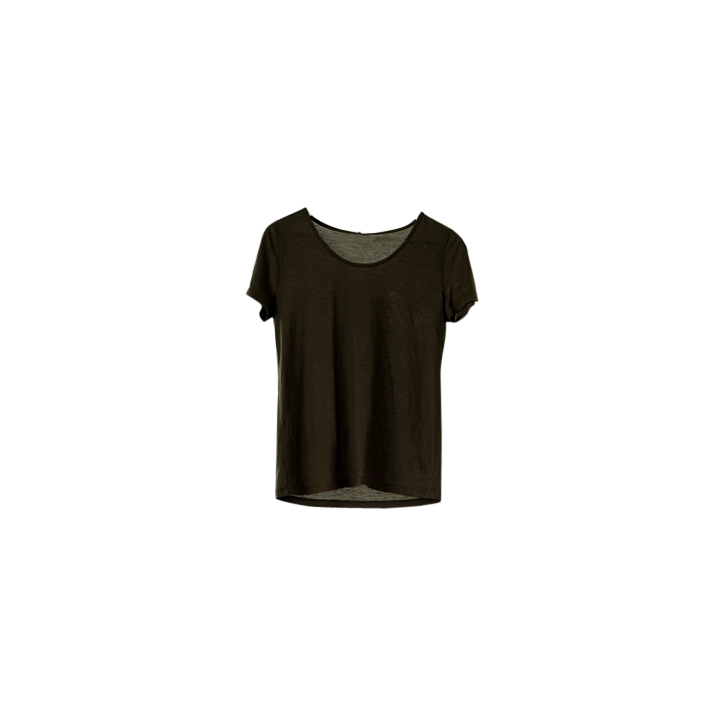 Made-to-order Olive Green tencel tshirt ethical clothing Australia accredited manufacturer