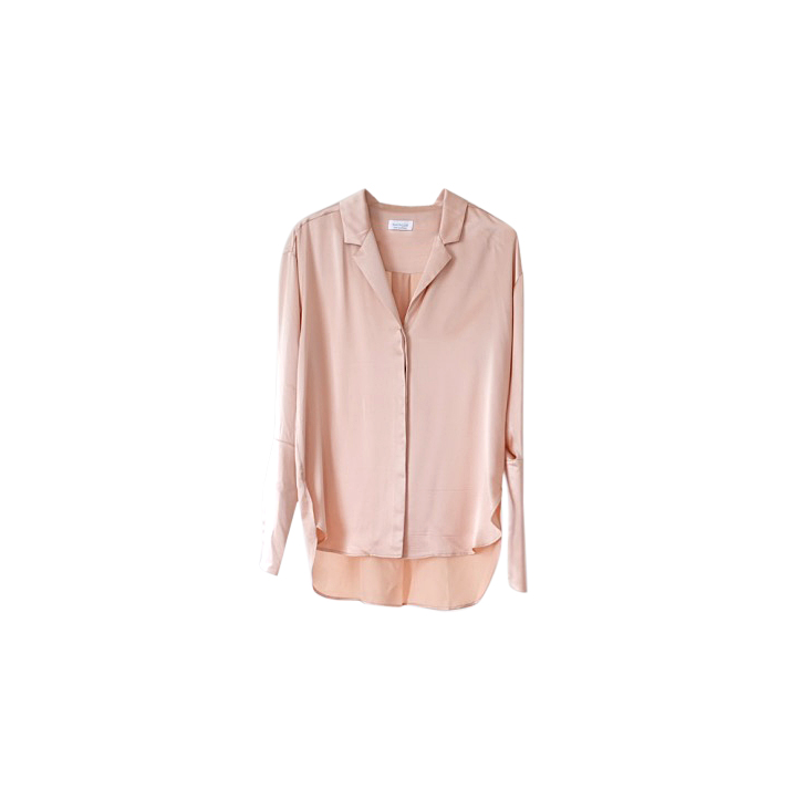 NATALIJA Silk button down shirt Rose
