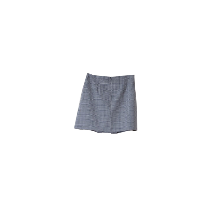 Rudi Miro grey check mini skirt