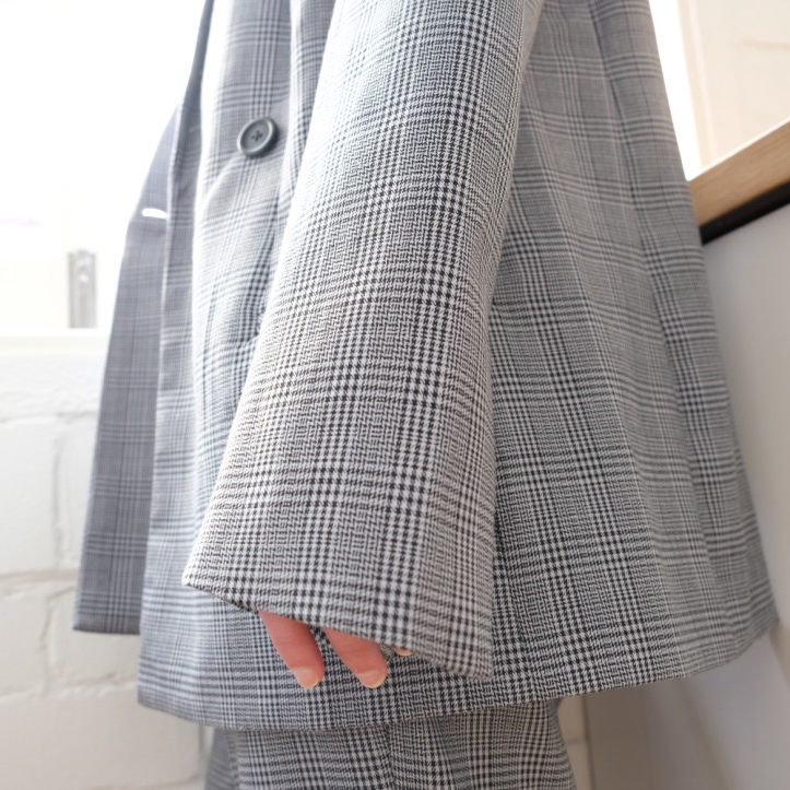 Emilia Double Breasted Check Blazer