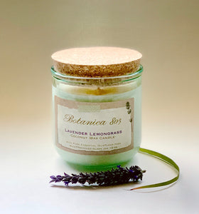Coconut Wax Candle| 10 oz Recycled Spanish Glass