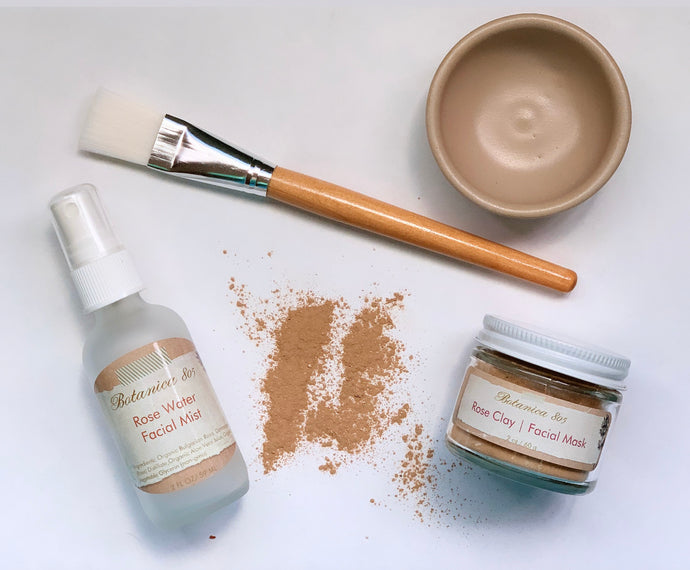 Rose Facial Skincare Set
