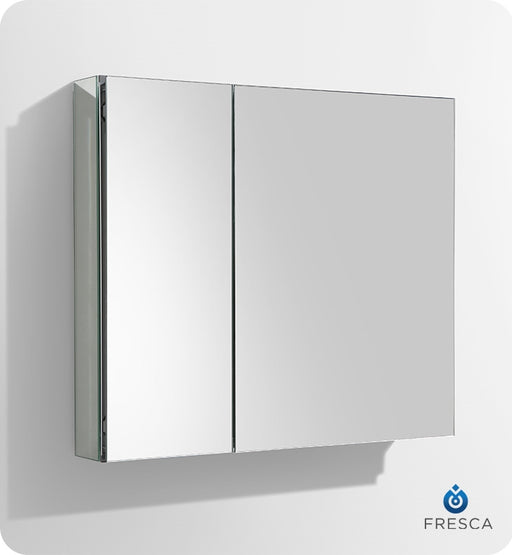 "Fresca 30"" Wide x 26"" Tall Bathroom Medicine Cabinet w/ Mirrors"