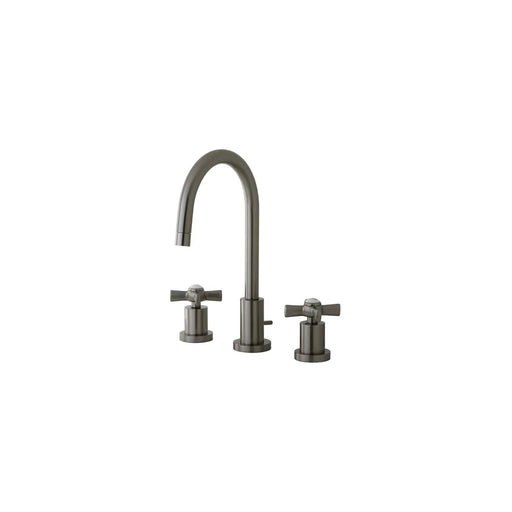 Widespread Cylindrical Cross Handle Bathroom Faucet