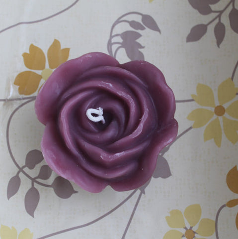 3D Beeswax Rose Candle