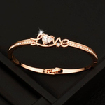 Rose Gold/Silver LOVE Bracelet