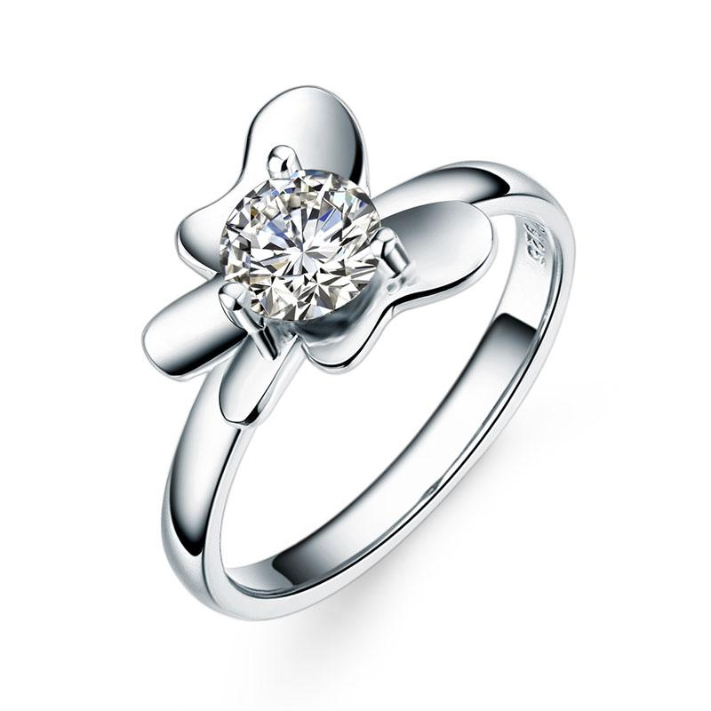 1 Carat 2-Pcs Butterfly Flower Set Ring