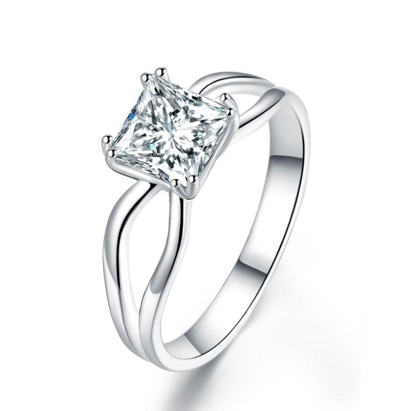 1 Carat Princess Cut Promise Ring