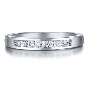 Channel Set Princess Cut Band