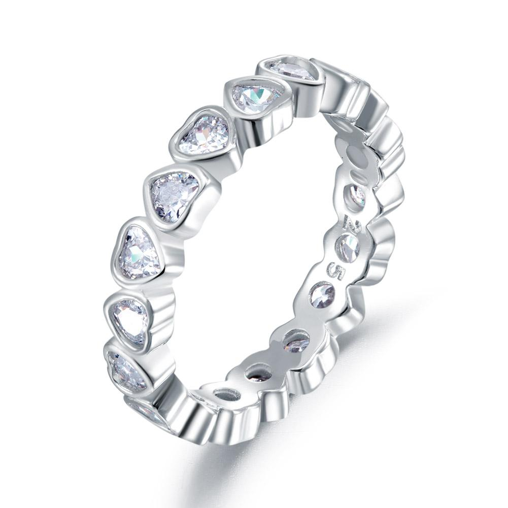 1 Carat Heart Band Ring
