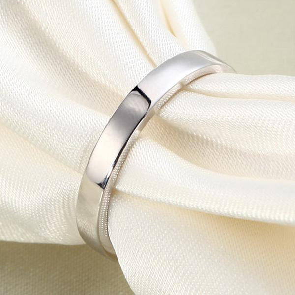 925 Silver Women's Band Ring