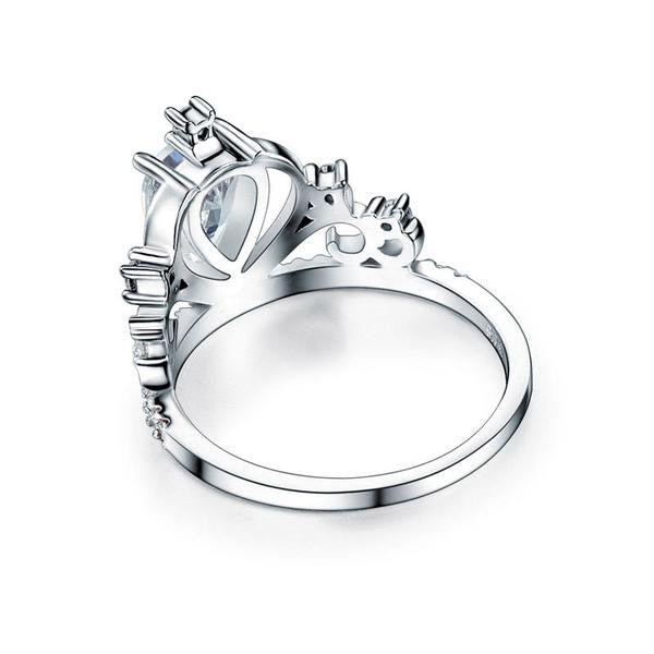1 Carat Crown Pear Cut Ring