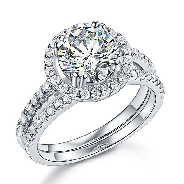 2 Ct Round Zopius Diamond Halo Ring