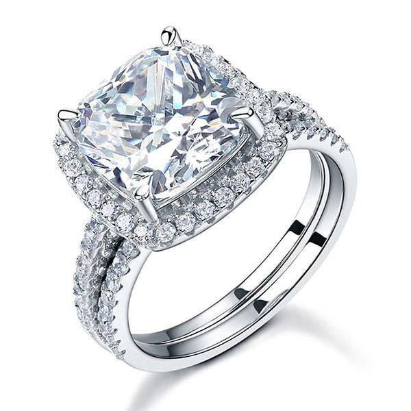 5 Carat Cushion Cut Halo Ring