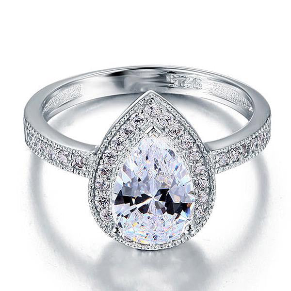 Pear Single Bang Zopius Diamond Ring