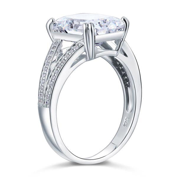 6 Carat Cushion Cut Ring