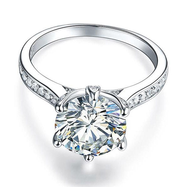 3 Carat 925 Silver Round Cut Ring