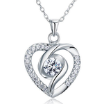 925 Silver Heart Pendant Necklace