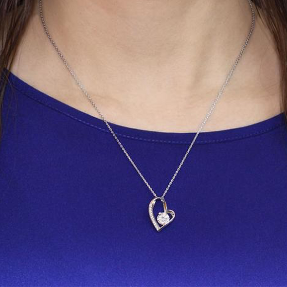 1 Carat Silver Heart Shape Necklace