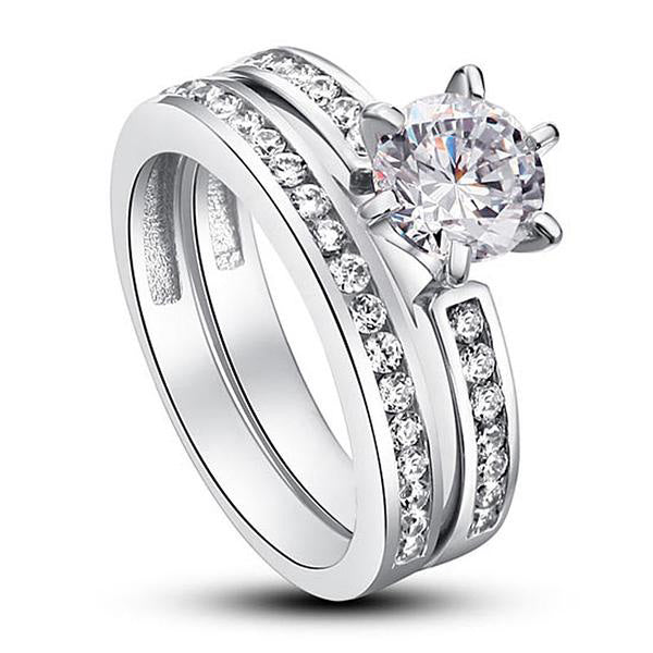1 Carat Round Cut Halo Ring