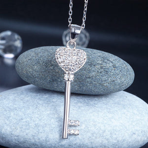 Love Key Sterling Silver Necklace