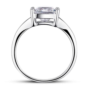 1.5 Carat Princess Cut 925 Silver Ring