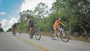 Frankie knows the Mayan Bockroads by bike