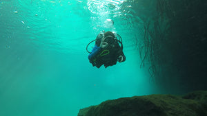 Amazing deep diving the Caribbean sea with Gabriel