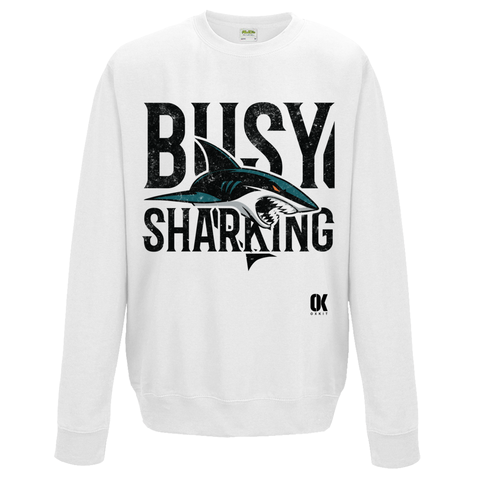 Busy Sharking Sweatshirt - Oxford Kit