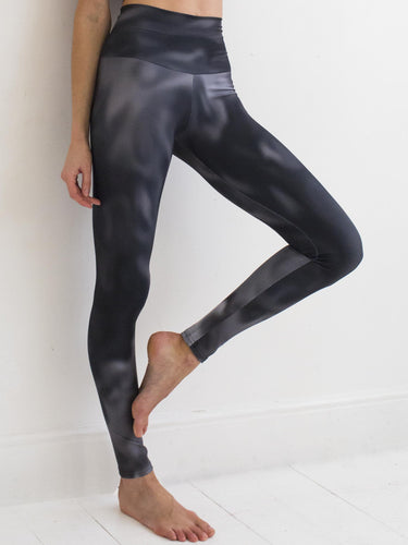 Clouds | Efesto Designs yoga leggings and top | grayscale based on natural cloud motions