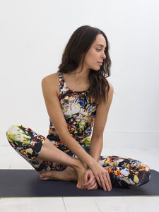 Mati | Efesto Designs yoga capris and crop top | inspired by the sea, range of colours, non-repeating patterns