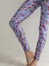 Isobaric | Efesto Designs (Efestosports) yoga leggings | pink/blue/red/green | weather map inspiration