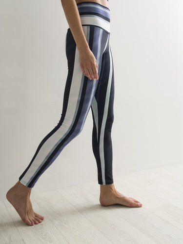 Ribbons - vertical | Efesto Designs (Efestosports) yoga leggings | dark blue, cyan, grey |
