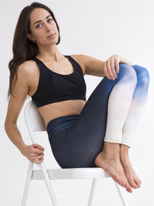 Flame | Efesto Designs yoga leggings | orange/light blue/dark blue smooth transitions
