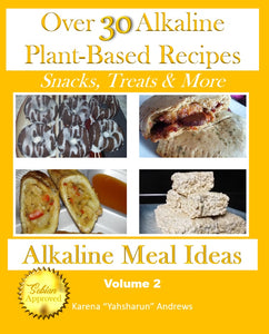 Over 30 Alkaline Plant-Based Recipes (Snacks, Treats & More) by Alkalne Meal Ideas - Volume 2 (Paperback) - All Naturell Healing