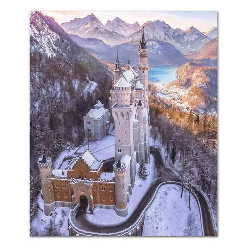 Print - Neuschwanstein Castle Winter