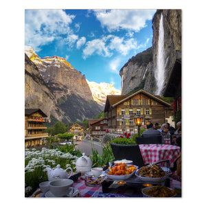 Prints - Breakfast in Lauterbrunen, Switzerland