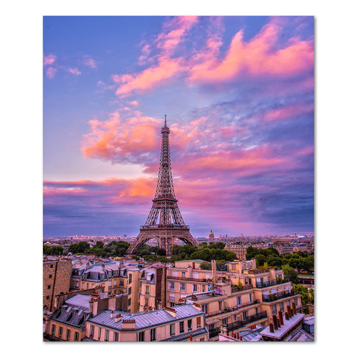 Prints - Sunset in Paris, France